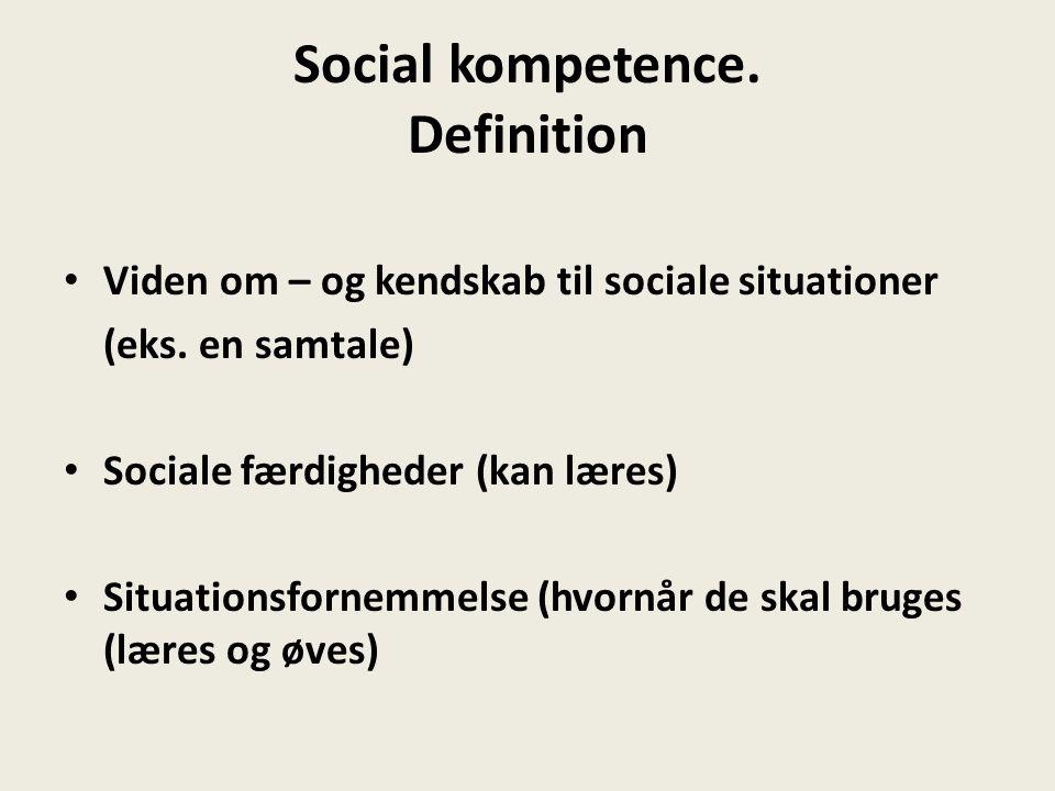 Social kompetence. Definition