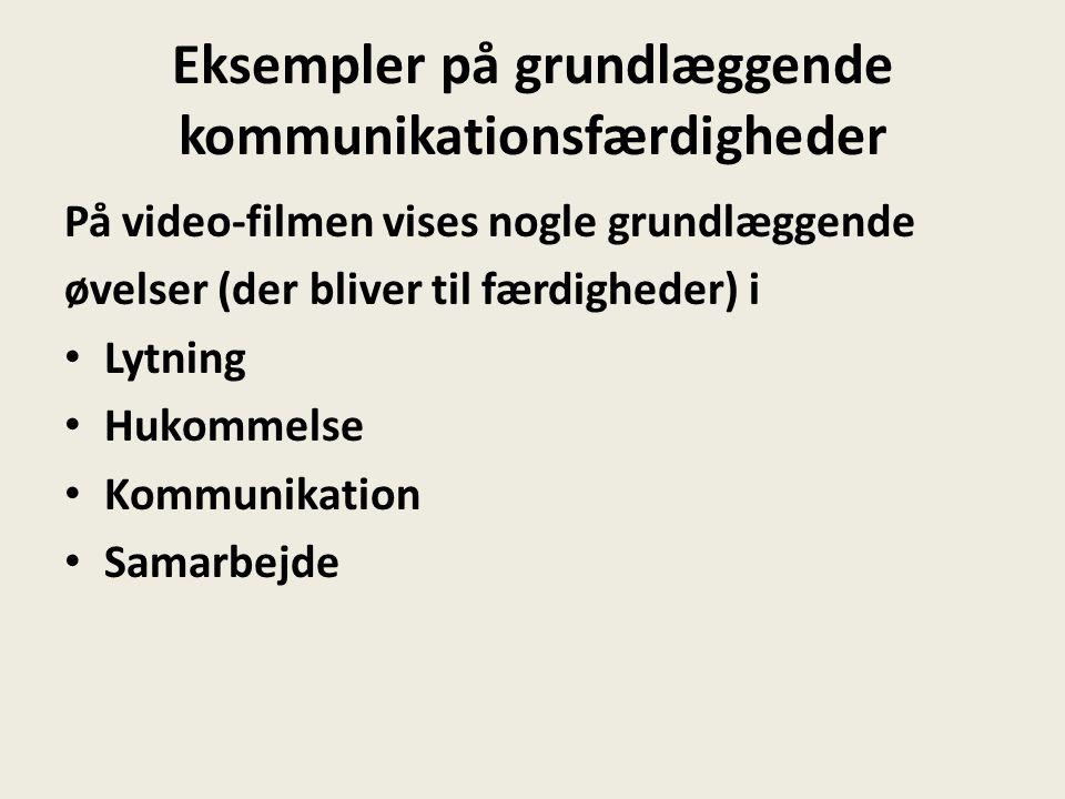 Eksempler på grundlæggende kommunikationsfærdigheder