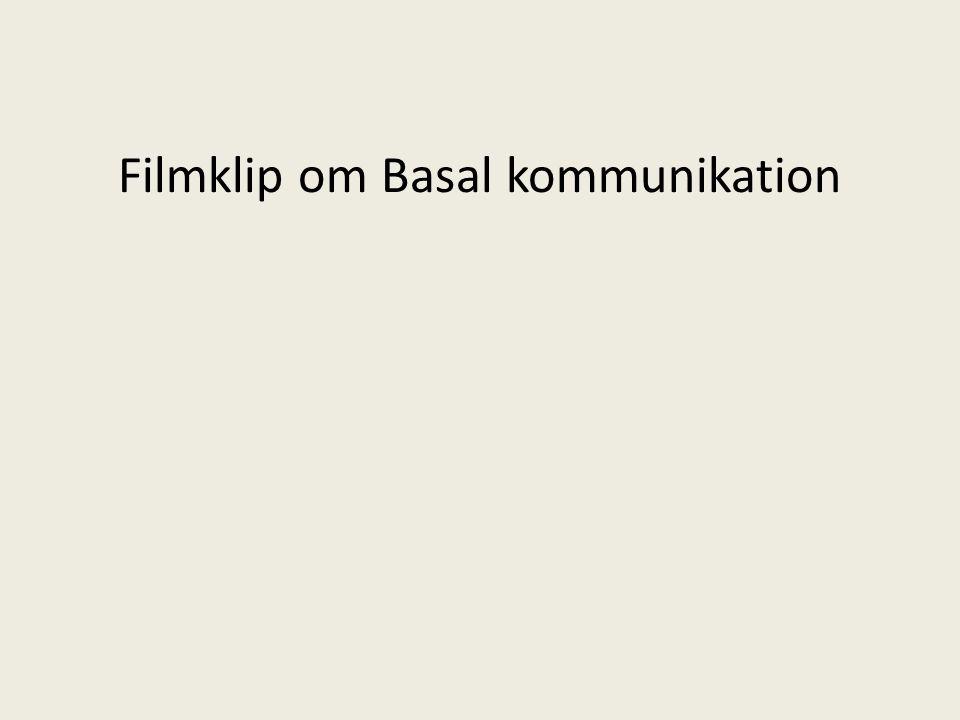 Filmklip om Basal kommunikation