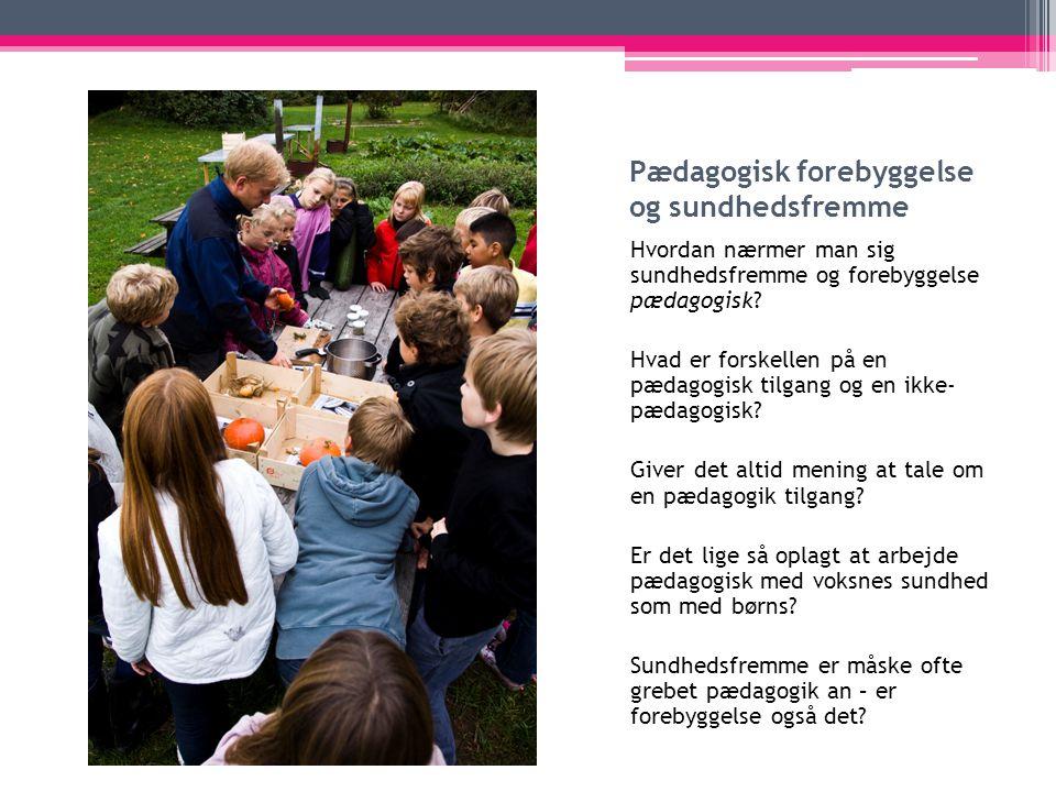 Pædagogisk forebyggelse og sundhedsfremme