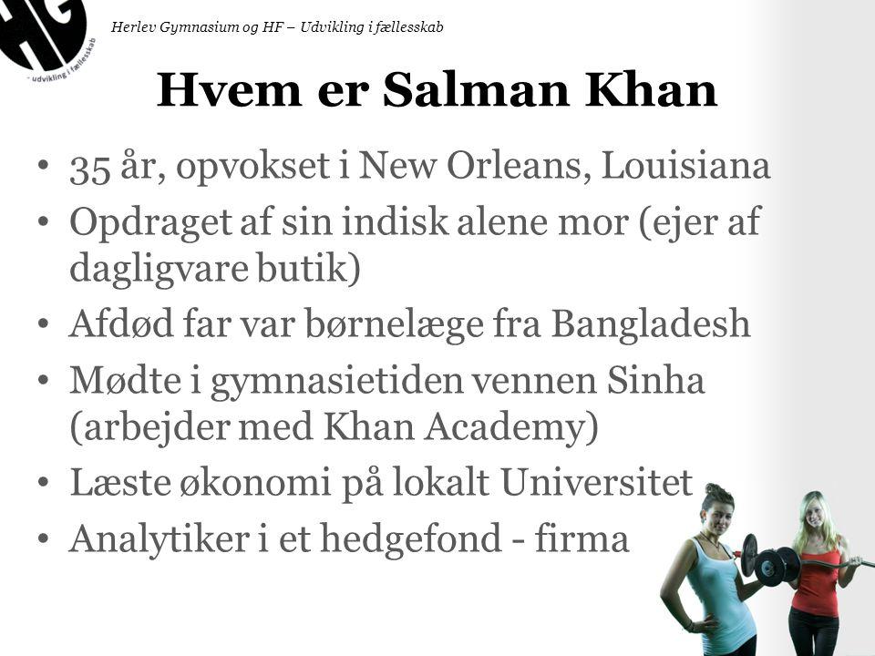 Hvem er Salman Khan 35 år, opvokset i New Orleans, Louisiana