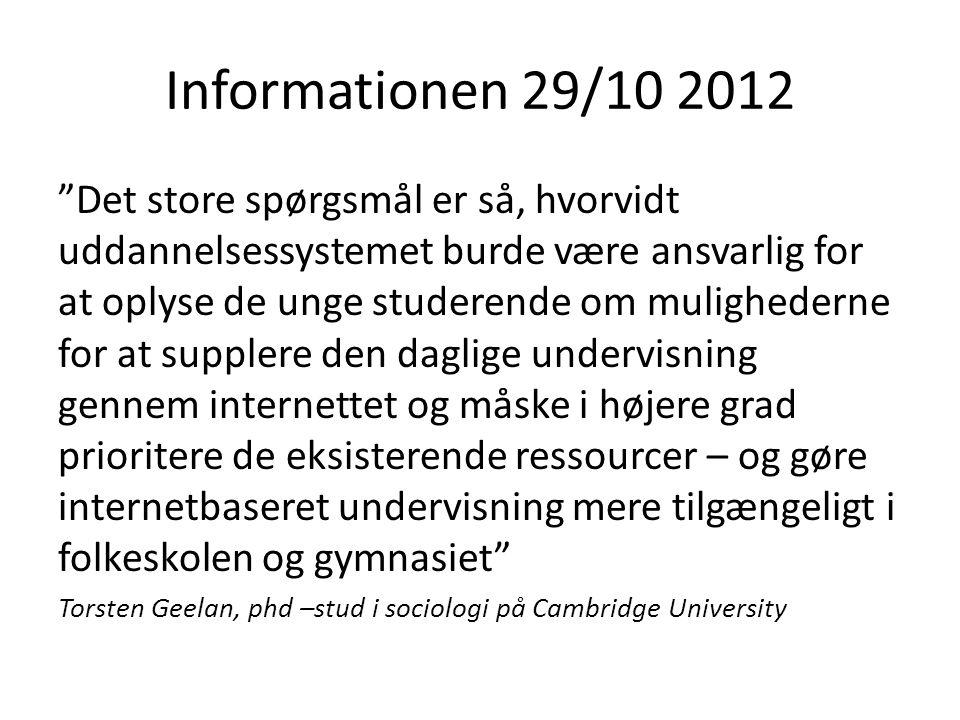 Informationen 29/10 2012