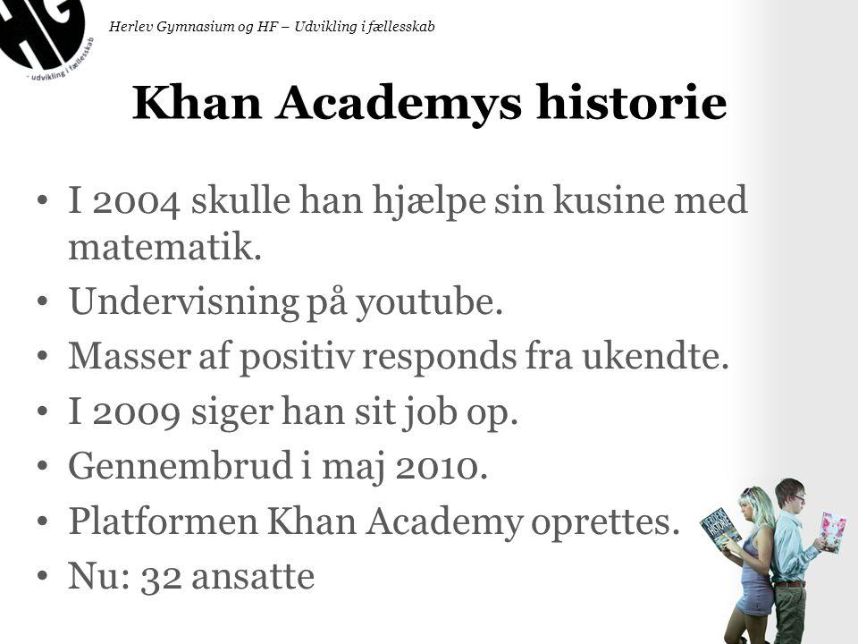 Khan Academys historie