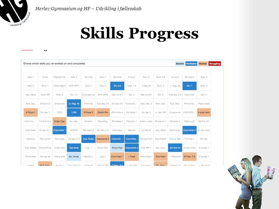 Skills Progress