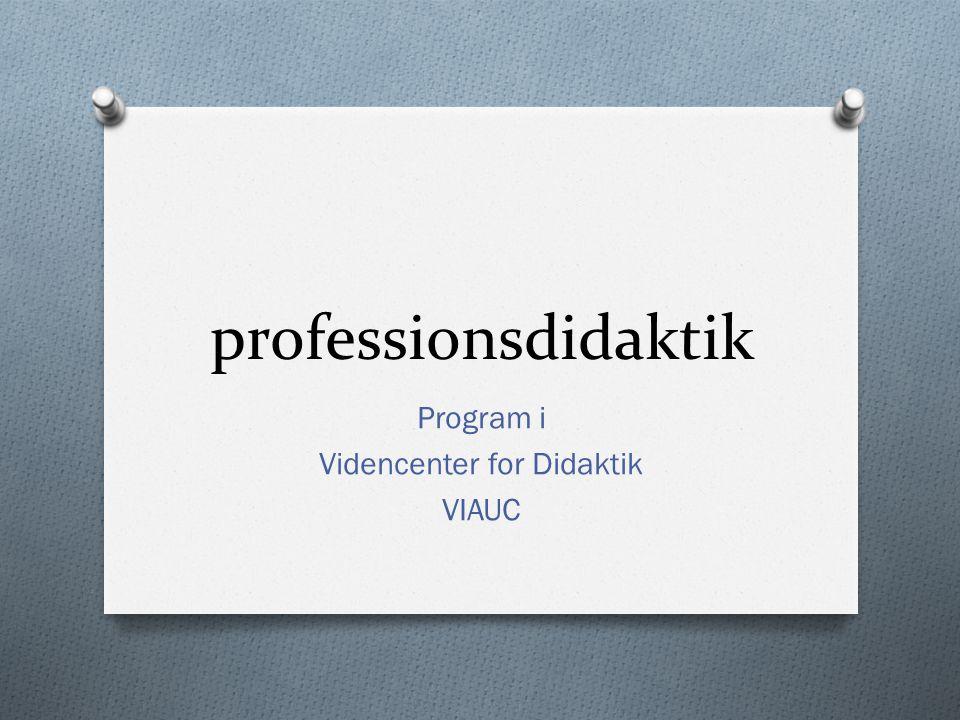 Program i Videncenter for Didaktik VIAUC