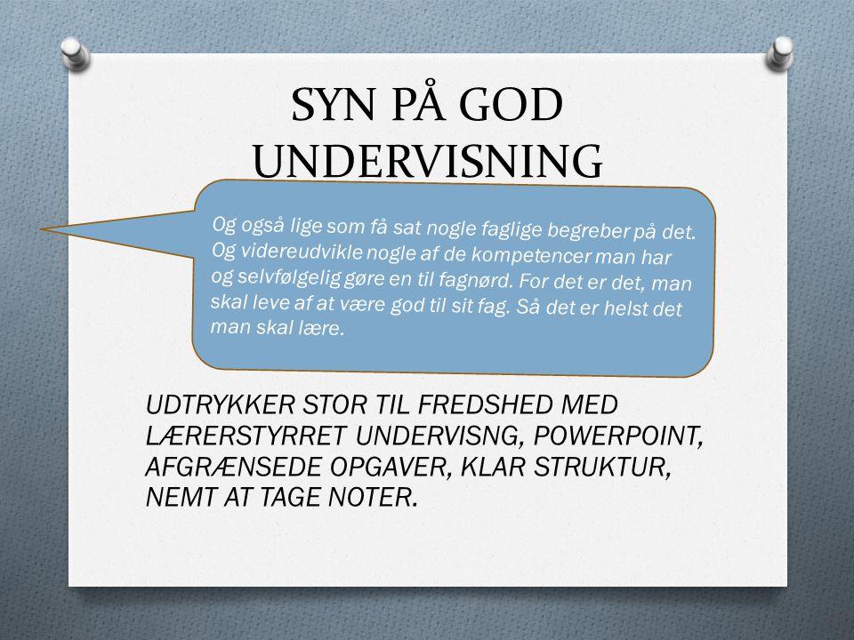 SYN PÅ GOD UNDERVISNING