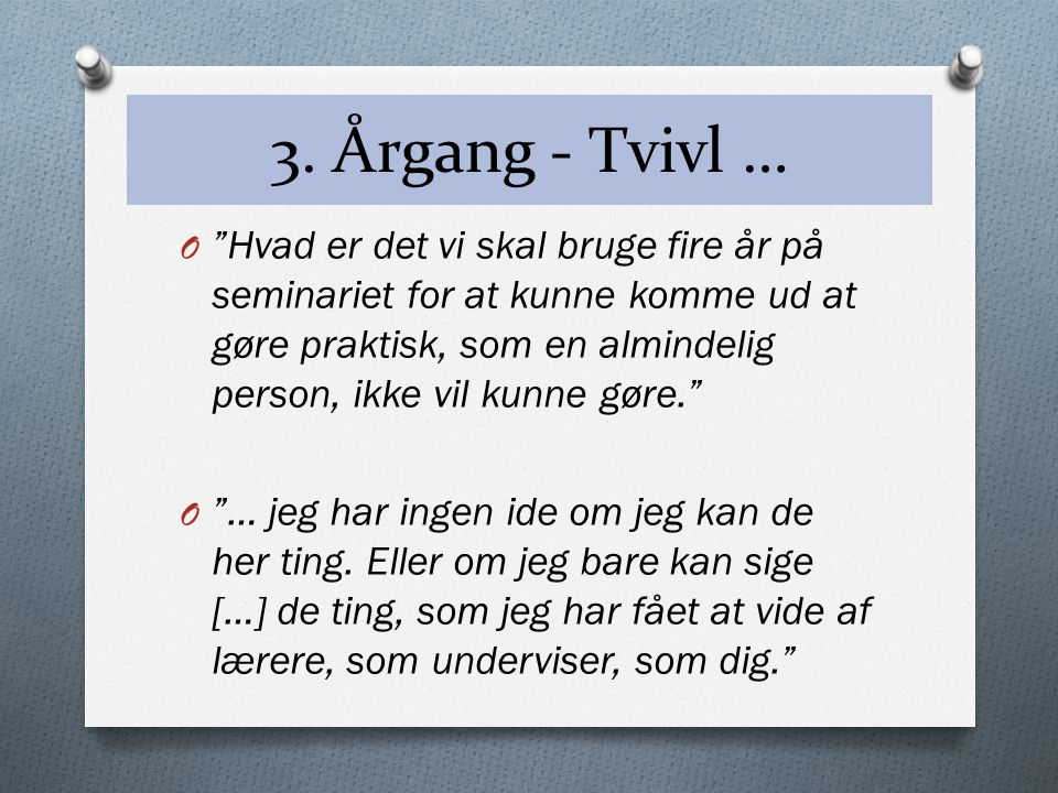 3. Årgang - Tvivl …