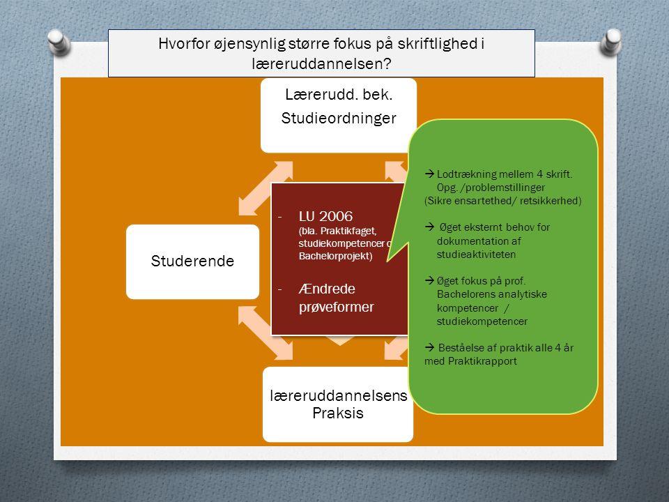Hvorfor øjensynlig større fokus på skriftlighed i læreruddannelsen