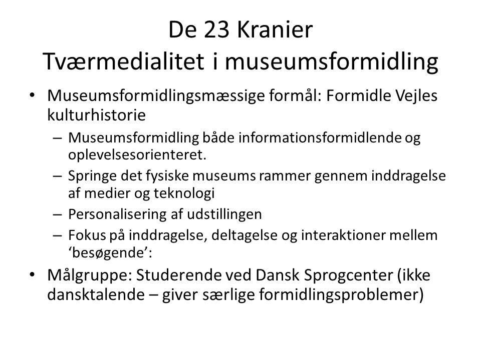 De 23 Kranier Tværmedialitet i museumsformidling
