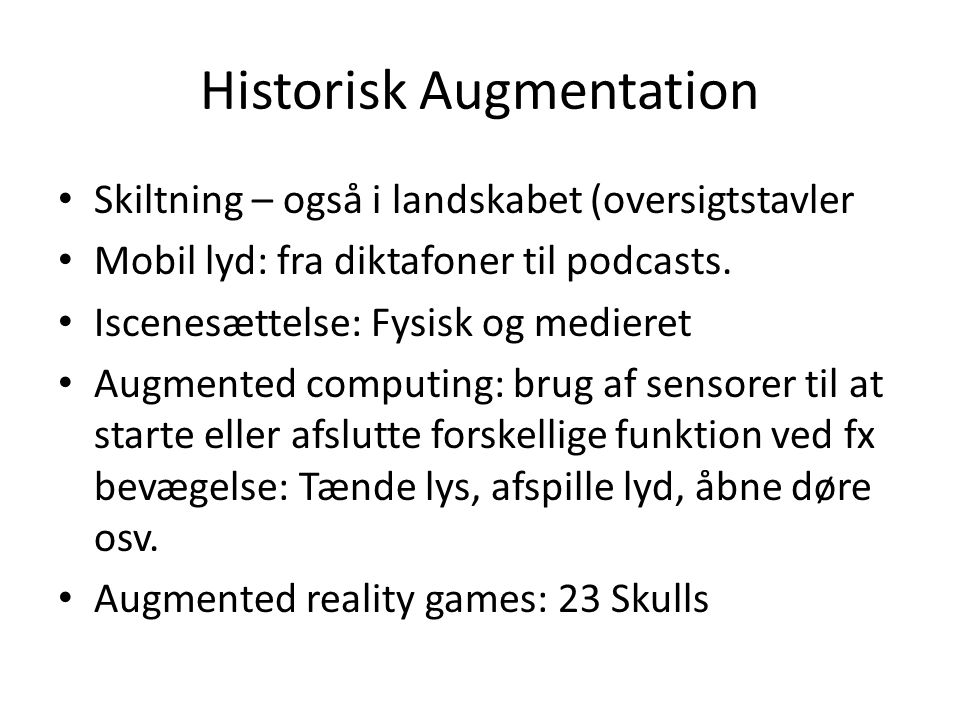 Historisk Augmentation
