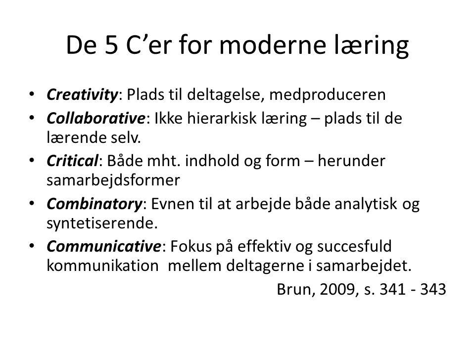 De 5 C'er for moderne læring
