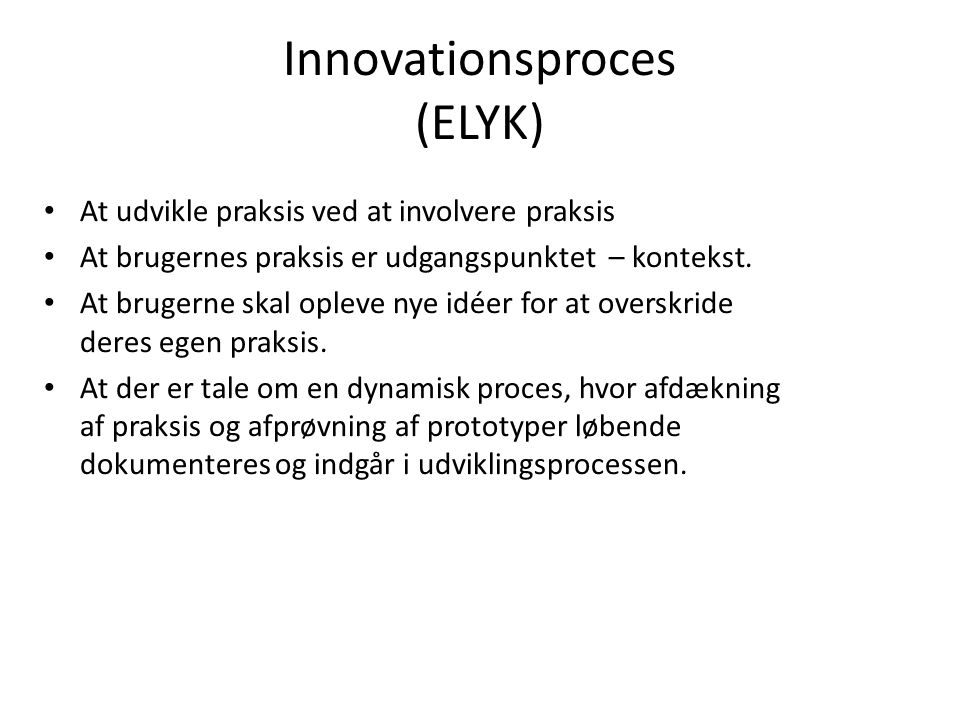 Innovationsproces (ELYK)