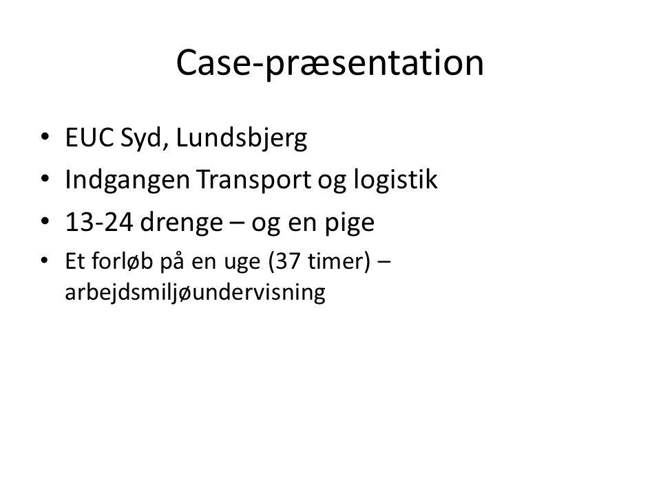 Case-præsentation EUC Syd, Lundsbjerg Indgangen Transport og logistik