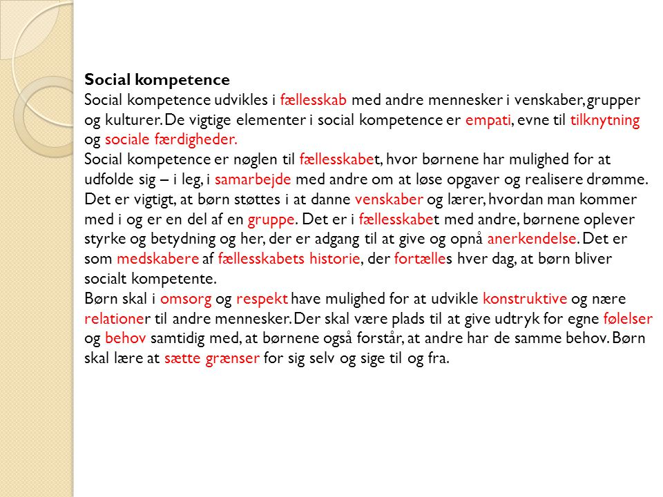 Social kompetence