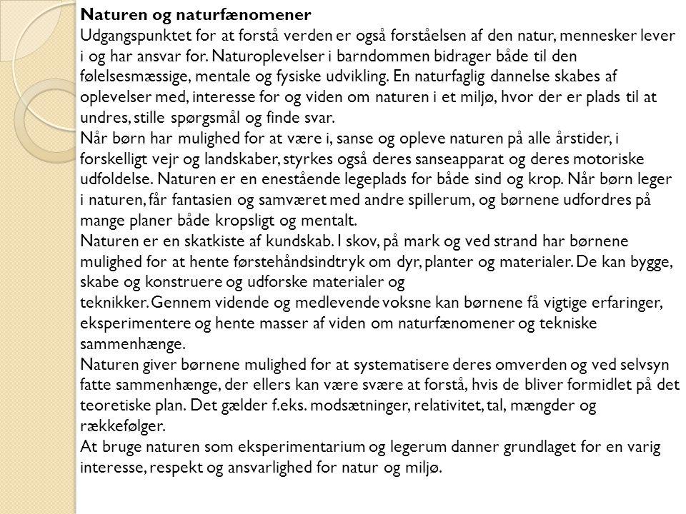 Naturen og naturfænomener