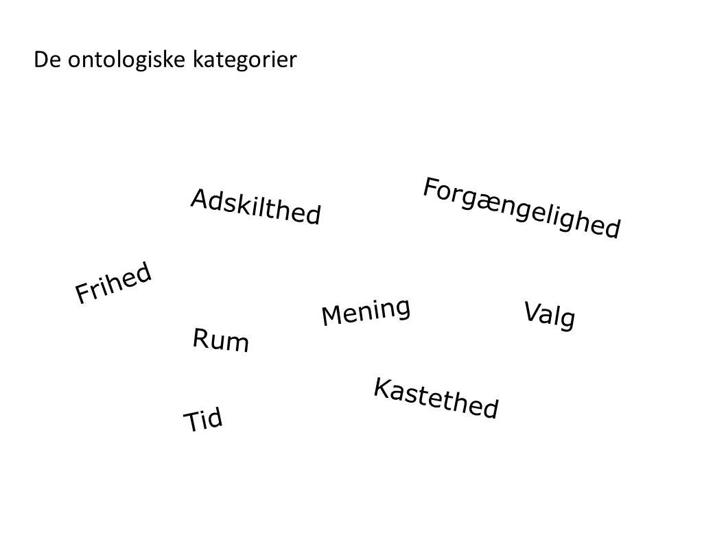 De ontologiske kategorier
