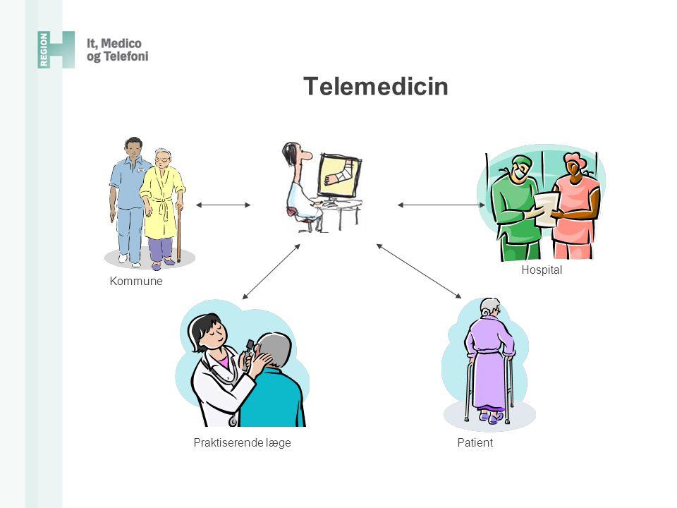 Telemedicin Hospital Kommune Praktiserende læge Patient