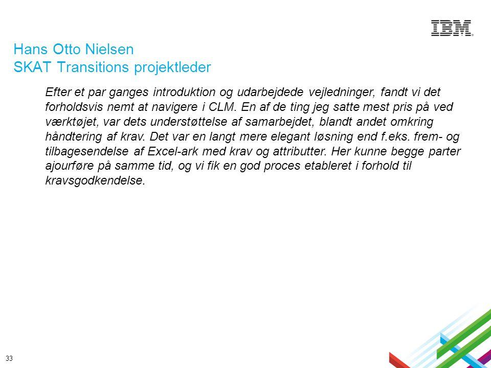 Hans Otto Nielsen SKAT Transitions projektleder