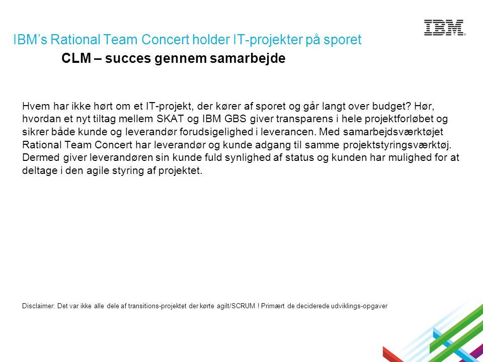 IBM's Rational Team Concert holder IT-projekter på sporet