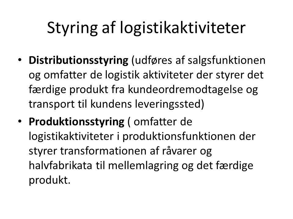Styring af logistikaktiviteter