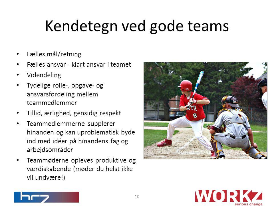 Kendetegn ved gode teams