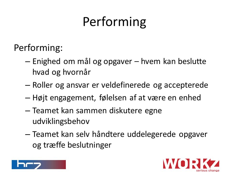 Performing Performing: