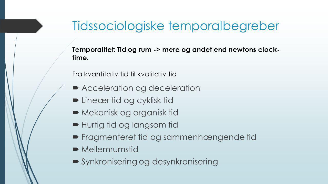 Tidssociologiske temporalbegreber