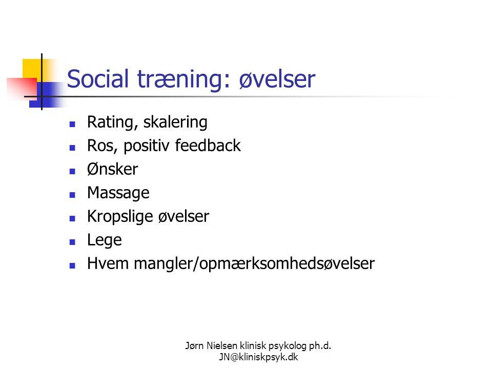 Social træning: øvelser