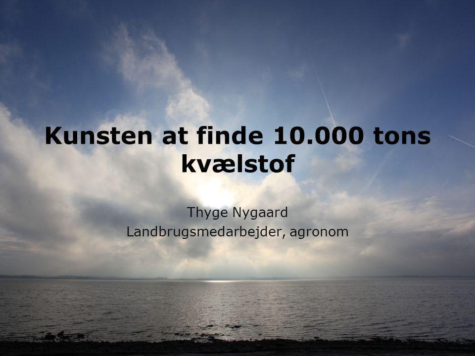 Kunsten at finde 10.000 tons kvælstof