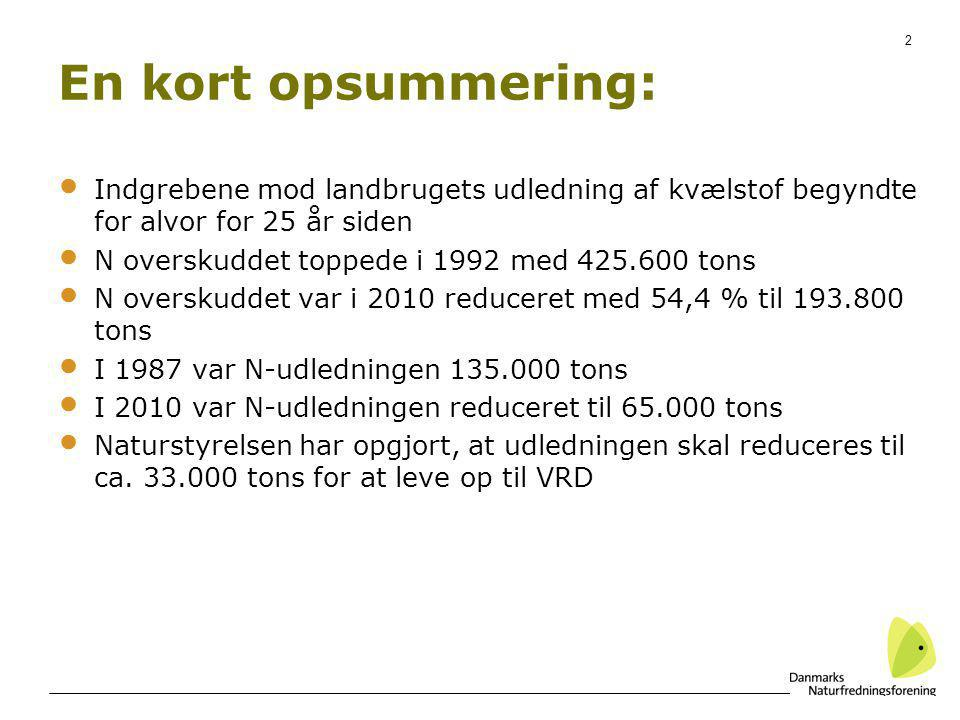 En kort opsummering: Indgrebene mod landbrugets udledning af kvælstof begyndte for alvor for 25 år siden.