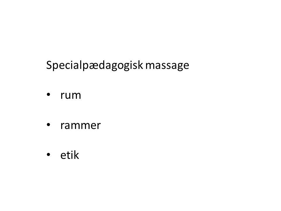 Specialpædagogisk massage