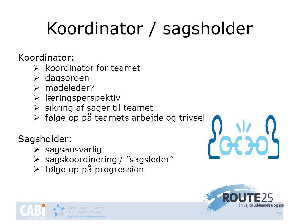 Koordinator / sagsholder