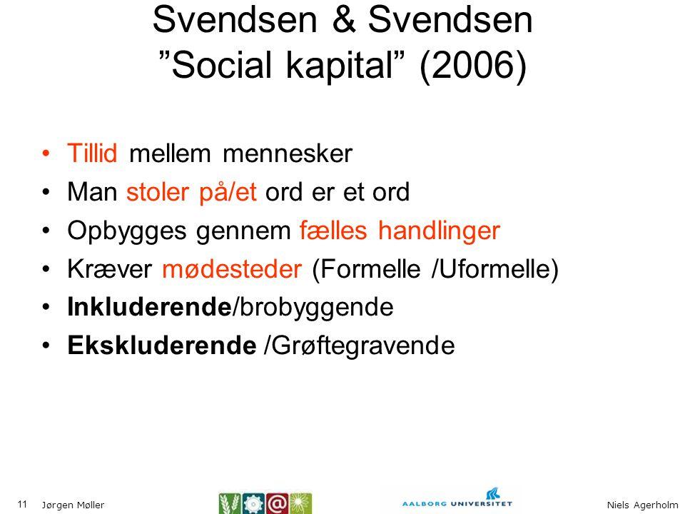 Svendsen & Svendsen Social kapital (2006)