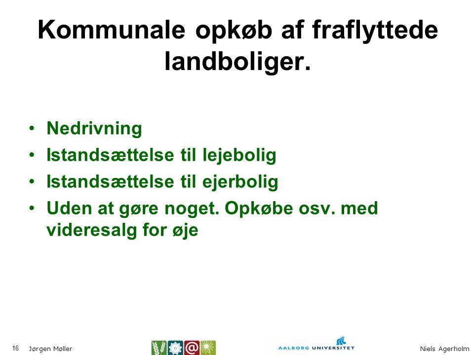 Kommunale opkøb af fraflyttede landboliger.