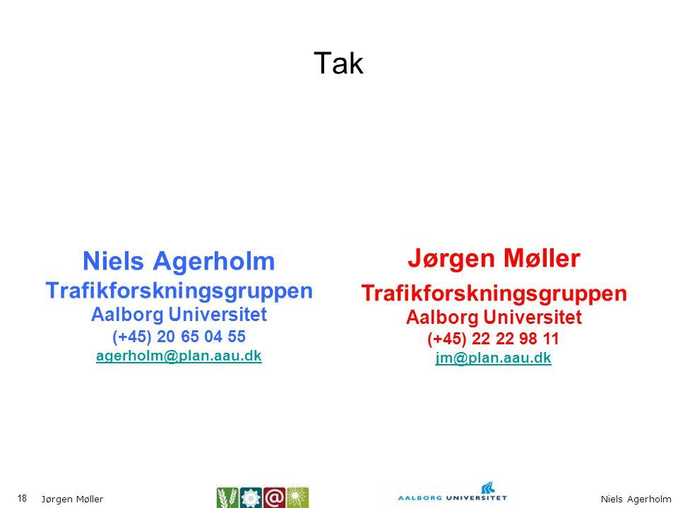 Tak Niels Agerholm Trafikforskningsgruppen Aalborg Universitet (+45) 20 65 04 55 agerholm@plan.aau.dk.