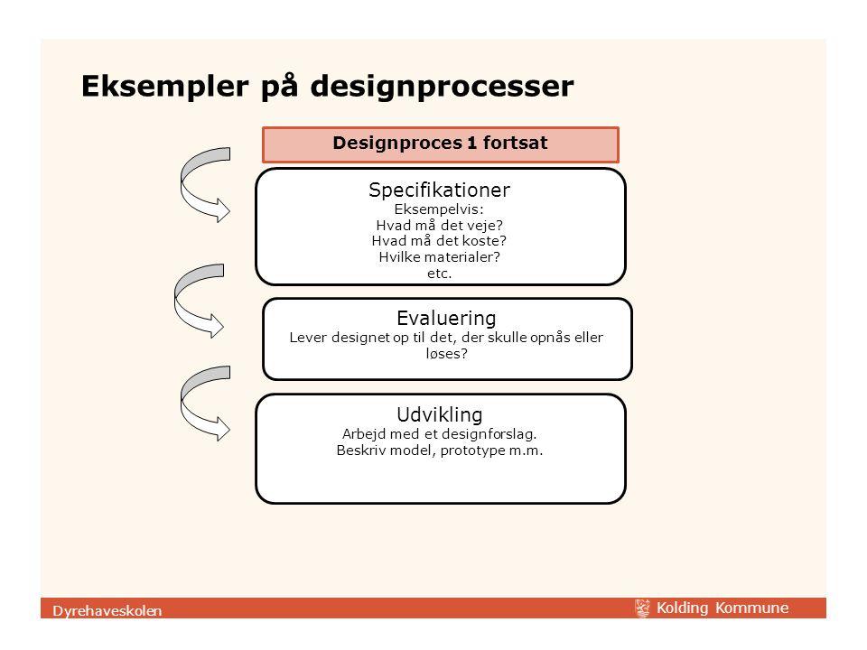 Eksempler på designprocesser