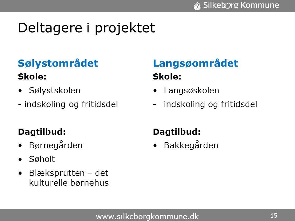 Deltagere i projektet Sølystområdet Langsøområdet Skole: Sølystskolen
