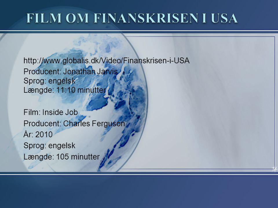 Film om finanskrisen i USA
