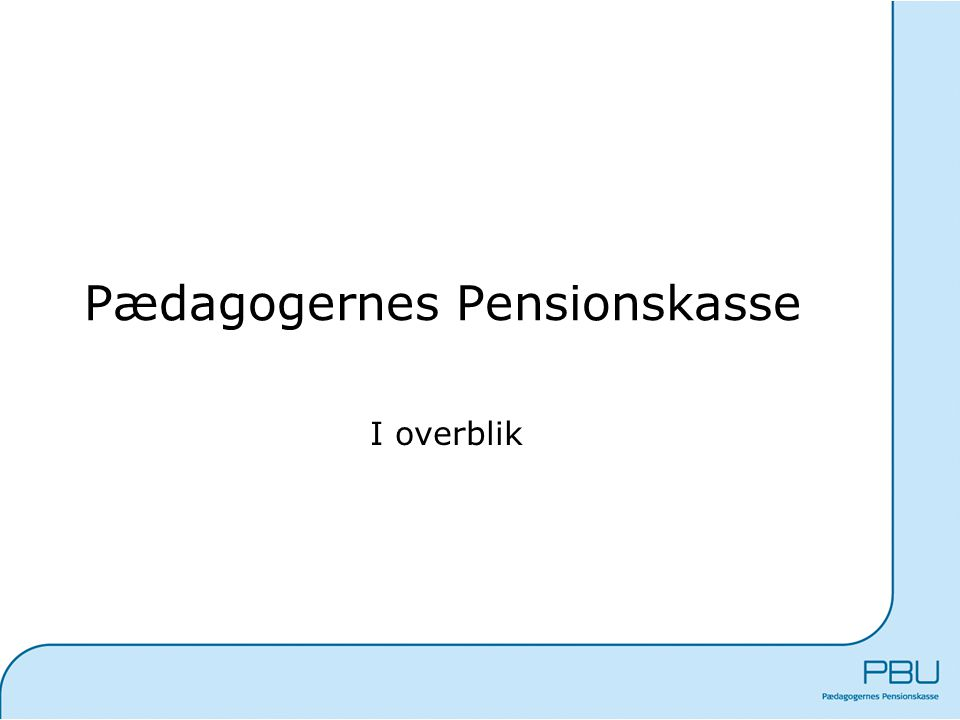 Pædagogernes Pensionskasse