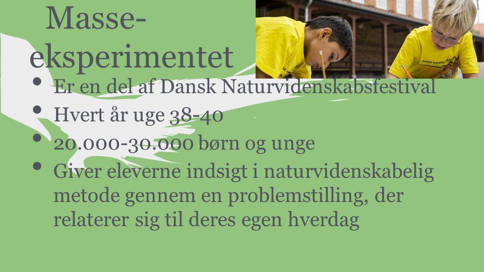 Masse- eksperimentet Er en del af Dansk Naturvidenskabsfestival