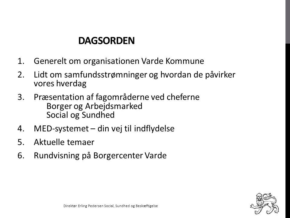 Dagsorden Generelt om organisationen Varde Kommune