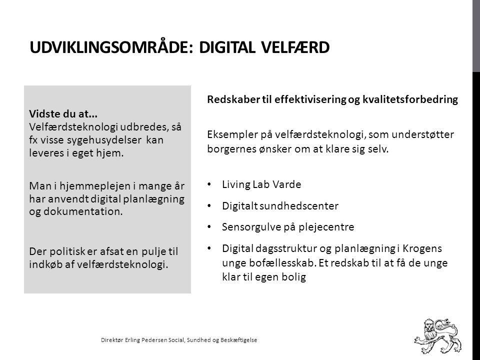 Udviklingsområde: Digital velfærd