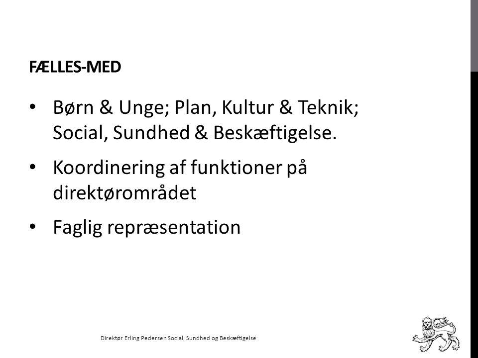 Børn & Unge; Plan, Kultur & Teknik; Social, Sundhed & Beskæftigelse.