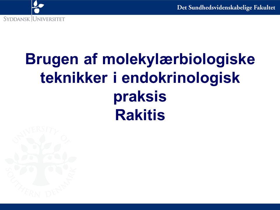 Brugen af molekylærbiologiske teknikker i endokrinologisk praksis Rakitis