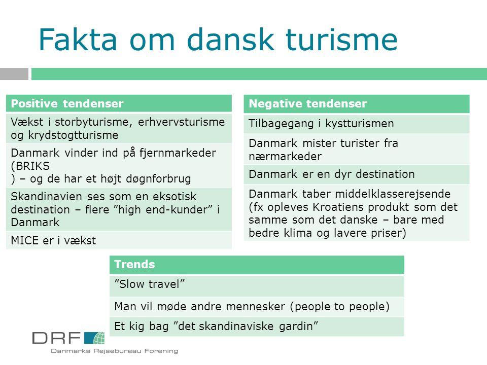 Fakta om dansk turisme Positive tendenser