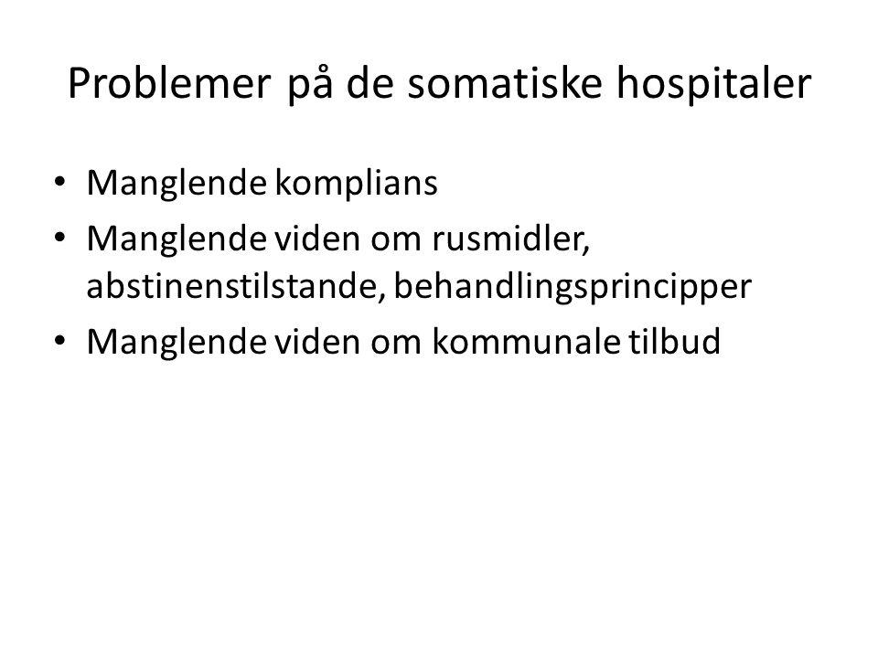 Problemer på de somatiske hospitaler