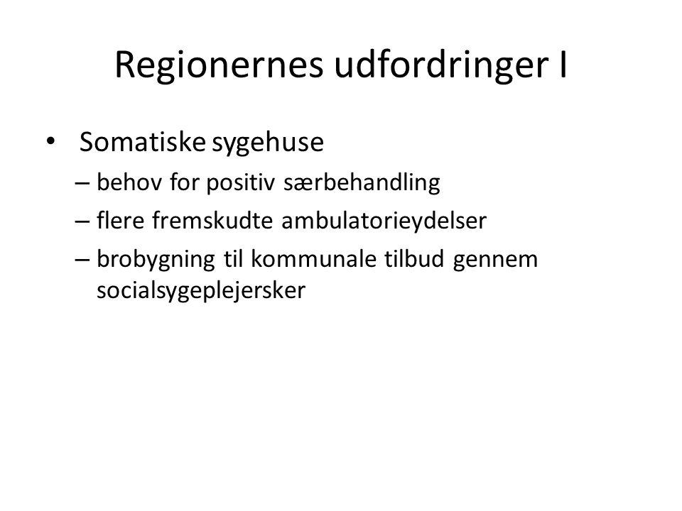Regionernes udfordringer I