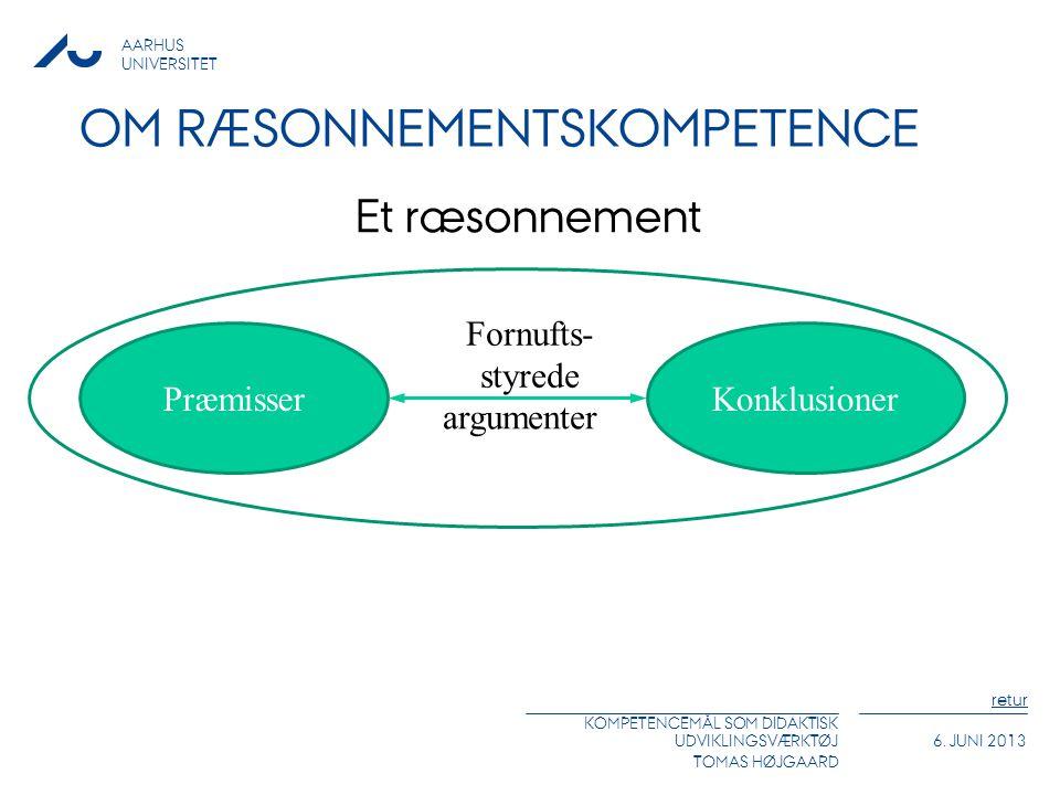 Om ræsonnementskompetence
