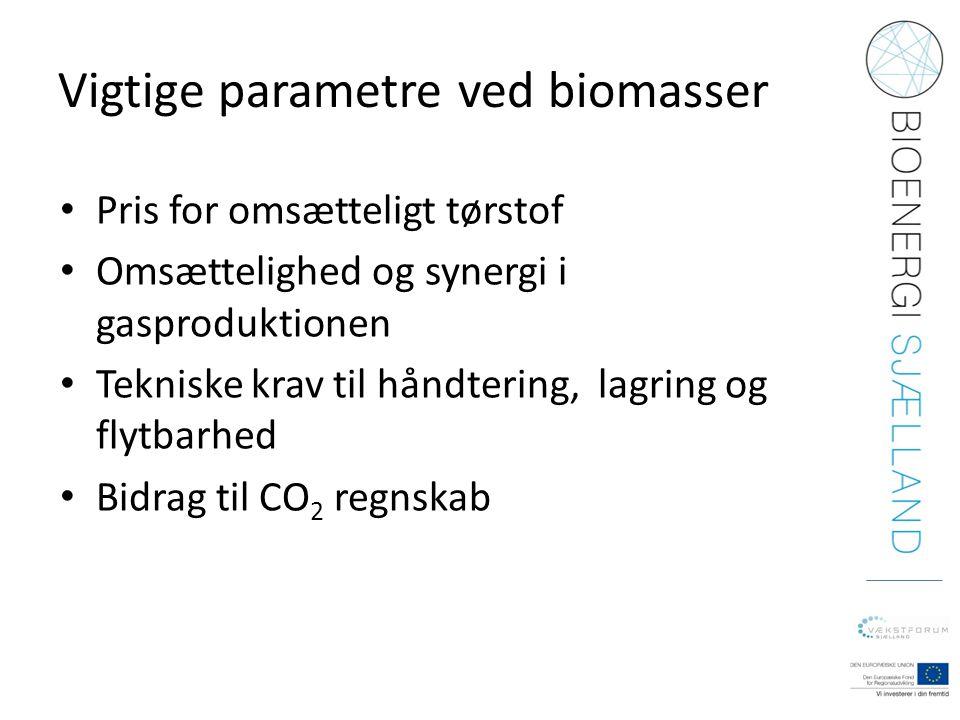 Vigtige parametre ved biomasser