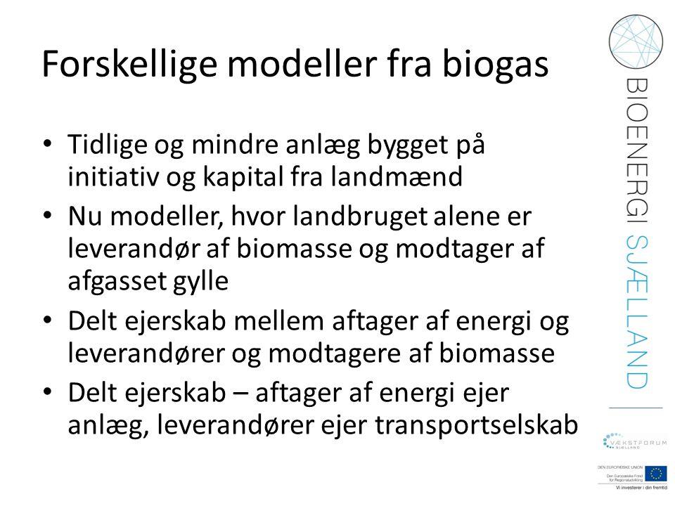 Forskellige modeller fra biogas